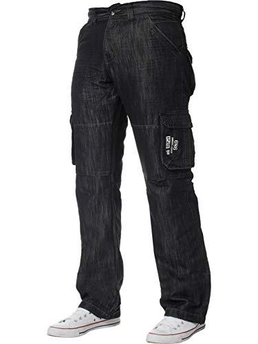 ENZO Mens Designer Cargo Combat Jeans Denim Pants All Waist Sizes 1