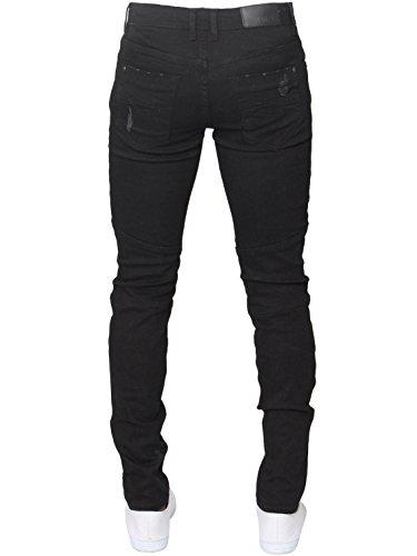 ENZO Mens Designer Stretch Skinny Fit Biker Denim Jeans Pants All Waist Sizes 3