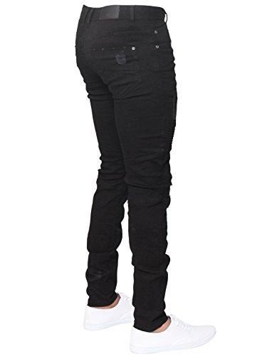 ENZO Mens Designer Stretch Skinny Fit Biker Denim Jeans Pants All Waist Sizes 5
