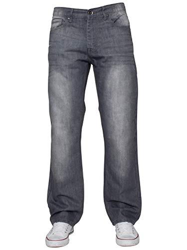 ENZO Mens Regular Fit Straight Fit Denim Blue Jeans Pants All Waist Leg Sizes 4