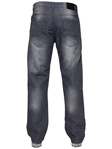 ENZO Mens Regular Fit Straight Fit Denim Blue Jeans Pants All Waist Leg Sizes 5