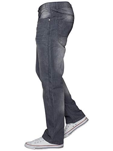 ENZO Mens Regular Fit Straight Fit Denim Blue Jeans Pants All Waist Leg Sizes 7