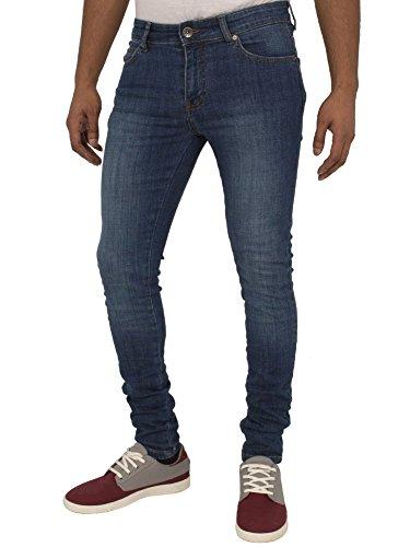 ENZO Mens Super Skinny Slim Fit Stretch Denim Retro Jeans Pants 1