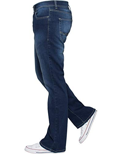 Enzo Mens Bootcut Wide Leg Jeans Stretch Bell Flared Denim Pants All Waist Sizes 3