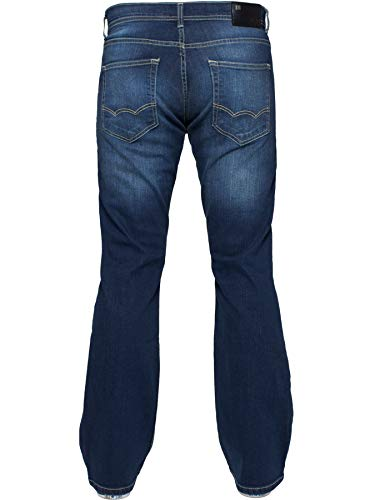 Enzo Mens Bootcut Wide Leg Jeans Stretch Bell Flared Denim Pants All Waist Sizes 5