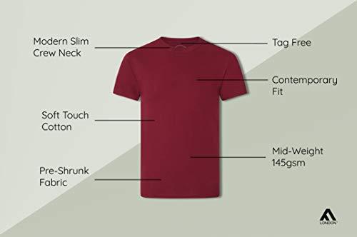 FM London Men's Organic T-Shirt (Pack of 4) 5