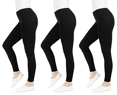 FM London Women's Casual Leggings (3-Pack) 1