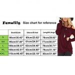 Famulily Womens Casual Cold Shoulder Long Sleeve Front Twist Tops 14