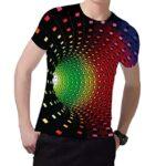 Fanient Men's T-Shirt 3D Printed Pattern Quick Dry Casual Summer T Shirts Novelty Short Sleeve T-Shirt 18