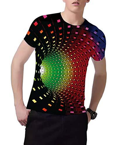 Fanient Men's T-Shirt 3D Printed Pattern Quick Dry Casual Summer T Shirts Novelty Short Sleeve T-Shirt 3