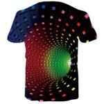 Fanient Men's T-Shirt 3D Printed Pattern Quick Dry Casual Summer T Shirts Novelty Short Sleeve T-Shirt 19