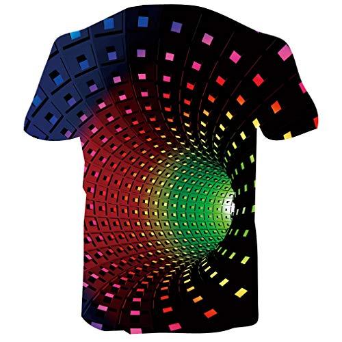 Fanient Men's T-Shirt 3D Printed Pattern Quick Dry Casual Summer T Shirts Novelty Short Sleeve T-Shirt 4