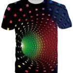 Fanient Men's T-Shirt 3D Printed Pattern Quick Dry Casual Summer T Shirts Novelty Short Sleeve T-Shirt 17