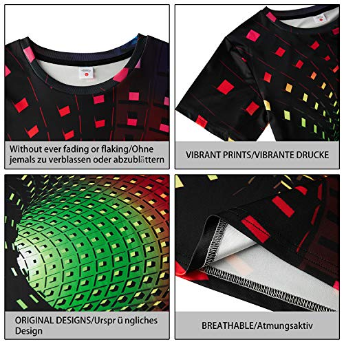 Fanient Men's T-Shirt 3D Printed Pattern Quick Dry Casual Summer T Shirts Novelty Short Sleeve T-Shirt 5