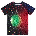 Fanient Men's T-Shirt 3D Printed Pattern Quick Dry Casual Summer T Shirts Novelty Short Sleeve T-Shirt 22