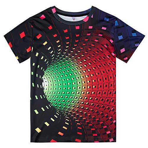 Fanient Men's T-Shirt 3D Printed Pattern Quick Dry Casual Summer T Shirts Novelty Short Sleeve T-Shirt 7