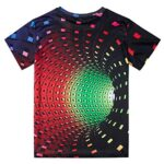Fanient Men's T-Shirt 3D Printed Pattern Quick Dry Casual Summer T Shirts Novelty Short Sleeve T-Shirt 23