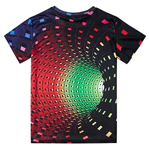 Fanient Men's T-Shirt 3D Printed Pattern Quick Dry Casual Summer T Shirts Novelty Short Sleeve T-Shirt 8