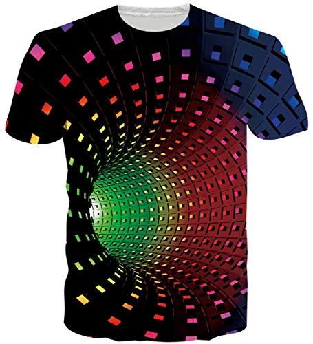 Fanient Men's T-Shirt 3D Printed Pattern Quick Dry Casual Summer T Shirts Novelty Short Sleeve T-Shirt 1