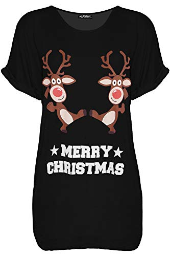Fashion Star Womens Snowman Tree Candy Xmas Baggy T Shirt 1