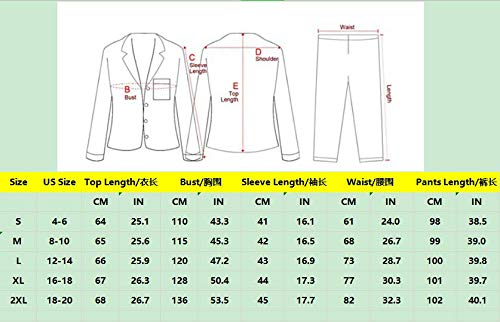 GAESHOW Ladies Pyjamas Set Womens Silk Satin Pajamas Set pJ Sets Long Sleeve Sleepwear Loungewear for All Seasons 6