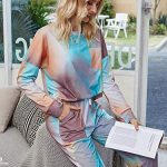 GAESHOW Ladies Pyjamas Set Womens Silk Satin Pajamas Set pJ Sets Long Sleeve Sleepwear Loungewear for All Seasons 22