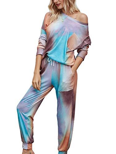 GAESHOW Ladies Pyjamas Set Womens Silk Satin Pajamas Set pJ Sets Long Sleeve Sleepwear Loungewear for All Seasons 1