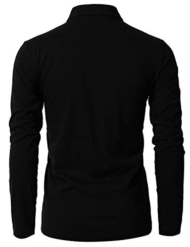 GHYUGR Mens Long Sleeve Polo Shirts with Fashion Embroidery Polos S-2XL 5