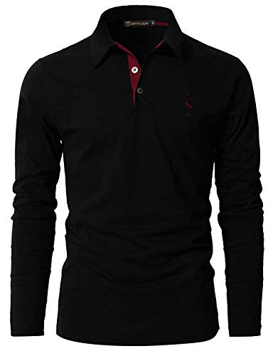 GHYUGR Mens Long Sleeve Polo Shirts with Fashion Embroidery Polos S-2XL 6