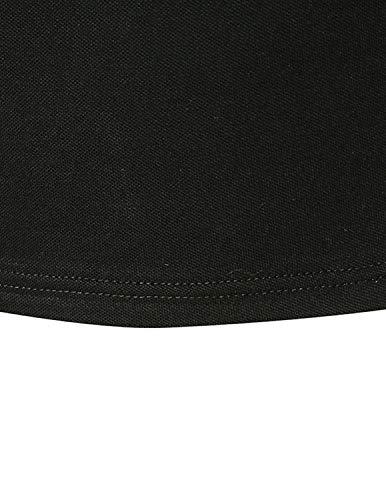 GHYUGR Men's Long Sleeve Polos Casual Tops Denim Splice Golf T-Shirt Poloshirts 7