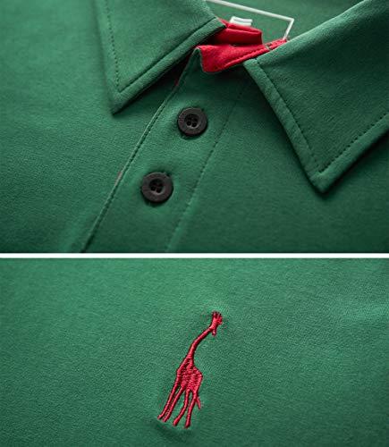 GLESTORE Mens Polo Shirts Giraffe MT1030 Golf Tennis T-Shirt 3