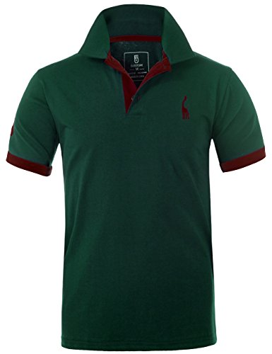 GLESTORE Mens Polo Shirts Giraffe MT1030 Golf Tennis T-Shirt 1