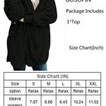 GOSOPIN Womens Solid Zipper Hooded Fluffy Cardigan Coat Long Sleeve Suits Outwear with Pocket 17