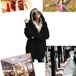 GOSOPIN Womens Solid Zipper Hooded Fluffy Cardigan Coat Long Sleeve Suits Outwear with Pocket 20