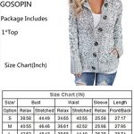 GOSOPIN Womens Winter Warm Cable Knitted Outwear Button-up Hooded Cardigans Fleece Sweater Jackets Coat S-XXL 18
