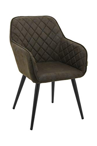 HNNHOME® Dalton Upholstered Kitchen Dining Chair with Arms and Back, Strong Metal Leg, Lounge Living Room Armchair… 9