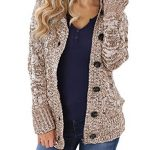 Happy Sailed Womens Hooded Button Down Cardigan Coat with Pockets 9