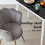 Hironpal Velvet Tub Chair Accent Armchair Living Room Single Occasional Lounge Chair Bedroom Metal Legs Sofa Side Chair… 21