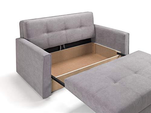 Honeypot - Sofa - Viva - Large Storage Sofa Bed - 3 Seater - 2 Seater - Grey - Plush Grey - Teal - Fabric (2 Seater… 4
