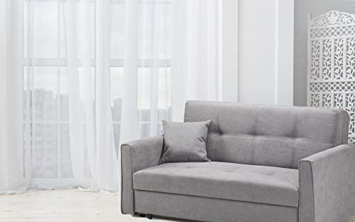 Honeypot - Sofa - Viva - Large Storage Sofa Bed - 3 Seater - 2 Seater - Grey - Plush Grey - Teal - Fabric (2 Seater… 5