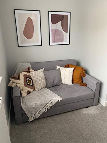 Honeypot - Sofa - Viva - Large Storage Sofa Bed - 3 Seater - 2 Seater - Grey - Plush Grey - Teal - Fabric (2 Seater… 6
