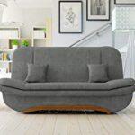 Honeypot - Sofa - Weronika - Storage Sofa Bed - 3 Seater - Footstool - Grey Fabric (3 Seater) 20