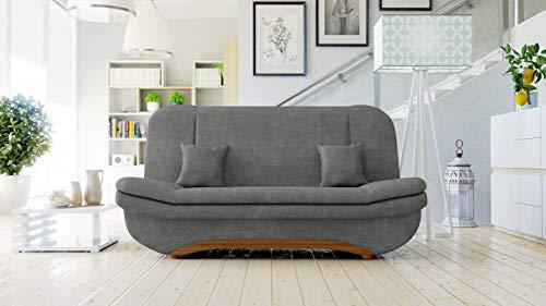 Honeypot - Sofa - Weronika - Storage Sofa Bed - 3 Seater - Footstool - Grey Fabric (3 Seater) 3