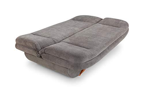 Honeypot - Sofa - Weronika - Storage Sofa Bed - 3 Seater - Footstool - Grey Fabric (3 Seater) 7