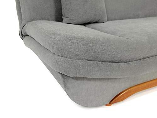 Honeypot - Sofa - Weronika - Storage Sofa Bed - 3 Seater - Footstool - Grey Fabric (3 Seater) 8