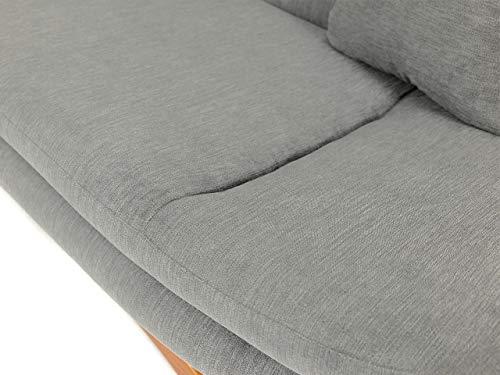 Honeypot - Sofa - Weronika - Storage Sofa Bed - 3 Seater - Footstool - Grey Fabric (3 Seater) 9