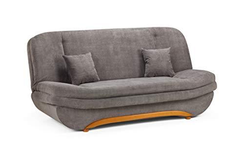 Honeypot - Sofa - Weronika - Storage Sofa Bed - 3 Seater - Footstool - Grey Fabric (3 Seater) 1