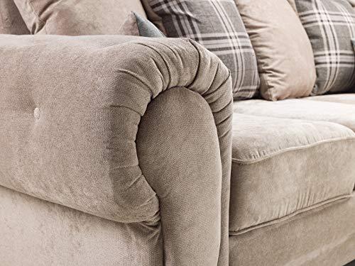 Honeypot - Sofa - Verona - Fabric - Corner Sofa - 3 Seater - 2 Seater - Footstool (Grey, 2 Seater) 4