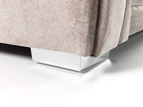 Honeypot - Sofa - Verona - Fabric - Corner Sofa - 3 Seater - 2 Seater - Footstool (Grey, 2 Seater) 5