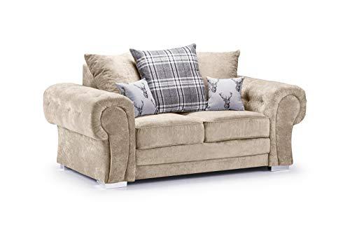 Honeypot - Sofa - Verona - Fabric - Corner Sofa - 3 Seater - 2 Seater - Footstool (Grey, 2 Seater) 1